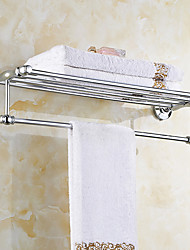 cheap -Bathroom Shelf Contemporary Brass Stainless Steel Wall Mounted