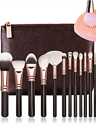 cheap -15 Pcs Brushes  And 1Pcs Cleaner Rose Golden Complete Makeup Brush Set Professional Luxury Set Make Up Tools Kit Powder Blending Brushes