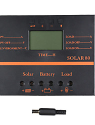 cheap -Y-SOLAR 80A LCD Solar Charge Controller PWM Charger Solar panel SOLAR80