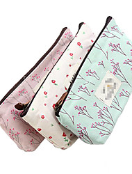 cheap -1 Pcs Hot Sale New Flower Floral Pencil Pen Canvas Case Cosmetic Makeup Tool Bag Storage Pouch Purse Color Random