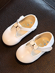 Baby Flats Comfort Flower Girl Shoes Cowhide Spring Fall Casual Outdoor Walking Comfort Flower Girl Shoes Magic Tape Low HeelWhite Black