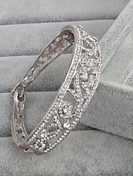 cheap -Bracelet Cuff Bracelet Rhinestone Others Vintage Wedding Anniversary Jewelry Gift Silver,1pc
