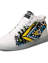 cheap -Men's Light Up Shoes PU(Polyurethane) Spring / Summer Comfort Sneakers Wearable White / Black