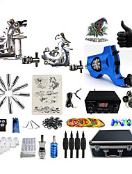 cheap -Professional Tattoo Kit 1 steel machine liner & shader 1 rotary machine liner & shader 1 alloy machine liner & shader 3 Tattoo Machine