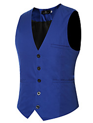 cheap -Men's Business Slim Vest - Solid
