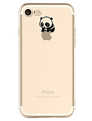 For iPhone X iPhone 8 iPhone 7 iPhone 6 iPhone 5 Case Case Cover Pattern Back Cover Case Playing with Apple Logo Panda Soft TPU for Apple