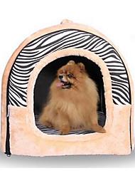 Недорогие -Кошка Собака Кровати Палатка Пещера Кровать Дом домашних животных Нейлон Хлопок Животные Коврики и подушки Мягкий Зебра