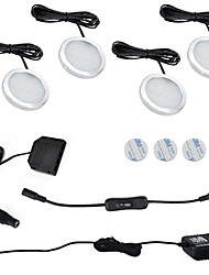 cheap -ONDENN 1200lm 12pcs LEDs Easy Install Waterproof Linkable Decorative Under Cabinet Lights Warm White Cold White 85-265V Cabinet Ceiling