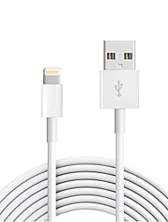 billige -USB 2.0 / Belysning Kabel / Opladerkabel / Opladerledning Normal Kabel iPad / Apple / iPhone for 300 cm Til TPE