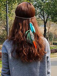 Недорогие -Перья ободки / Цветы / Зажим для волос с 1 Свадьба / Особые случаи / Повседневные Заставка / Резинка для волос