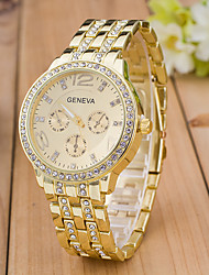 cheap -Men's Sport Watch Wrist Watch Simulated Diamond Watch Quartz Designers Large Dial Swiss Rose Gold Plated Alloy Band Analog Charm Fashion Dress Watch Multi-Colored - Gold Silver Rose Gold One Year