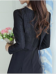 Sign new Korean fashion Slim was thin ladies jacket piece fitted lace dress