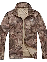 Unisex Hiking Jacket Waterproof Quick Dry Windproof Rain-Proof Breathable Lightweight Materials Comfortable Sunscreen Single Slider