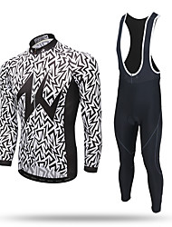 cheap -XINTOWN Cycling Jersey with Bib Tights Men's Long Sleeves Bike Pants / Trousers Tracksuit Zip Top Jersey Bib Tights Top Clothing Suits