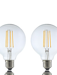 E26/E27 Ampoules à Filament LED G95 4 COB 600 lm Blanc Chaud 2700 K Intensité Réglable AC 100-240 V