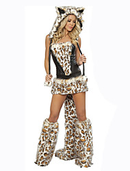 Cosplay Cosplay Costumes Female Festival/Holiday Halloween Costumes Leopard Carnival Solid
