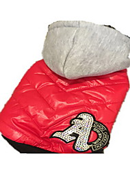 preiswerte -Hund Mäntel Hundekleidung Atmungsaktiv Lässig/Alltäglich Sport Solide Gelb Rot Kostüm Für Haustiere