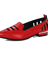 Da donna Scarpe Materiali personalizzati Finta pelle Primavera Estate Autunno Innovativo Club Shoes Ballerine Piatto Appuntite Nappa Per