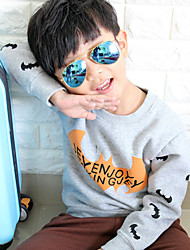Boy's Fashion Going out Casual/Daily Holiday Print Tee Blouse Cotton Spring/Fall Long Sleeve Regular Children's Garments