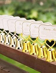 1pcs Beter Gifts® Kissing Bell Place Card Holder 4.5 x 4.5 x 7.5 cm/pcs