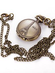 Homens Relógio de Bolso Colar com Relógio Quartzo Lega Banda Vintage Pendente Casual Cores Múltiplas