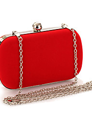 cheap -Women's Bags Suede Evening Bag for Wedding Event/Party Formal All Seasons Black Red Aquamarine Fuchsia