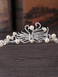 imitación perla aleación tiaras headpiece estilo femenino clásico