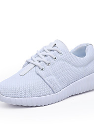 Women's Athletic Shoes Summer Creepers Light Soles Tulle Outdoor Athletic Casual Platform Creepers Lace-up Walking