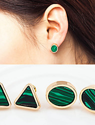 cheap -Women's Turquoise Stud Earrings - Stylish Green For Wedding / Party / Special Occasion / Daily / Casual