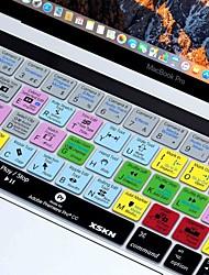 Недорогие -xskn® Premiere Pro куб.см ярлык кожи силиконовая клавиатура и протектор сенсорной панели для 2016 года новый Macbook Pro 13,3 / 15,4 с