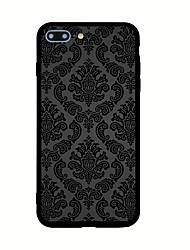 Недорогие -Назначение iPhone X iPhone 8 Чехлы панели С узором Задняя крышка Кейс для Плитка Твердый Акриловое волокно для Apple iPhone X iPhone 8