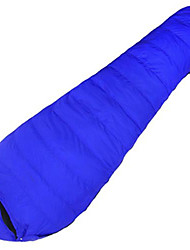 cheap -Sleeping Bag Mummy Bag Single -10--10 Duck DownX80 Camping Outdoor Keep Warm Moistureproof/Moisture Permeability Waterproof Foldable