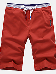 cheap -Men's Active Street chic Plus Size Cotton Slim Shorts Pants - Solid Colored