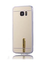 رخيصةأون -غطاء من أجل Samsung Galaxy حالة سامسونج غالاكسي تصفيح / مرآة غطاء خلفي لون سادة قاسي أكريليك إلى S7 plus / S7 edge / S7