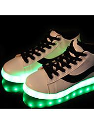 cheap -Men's Sneakers Comfort PU Spring Summer Casual Comfort Flat Heel Black Ruby Flat