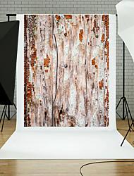 5x7ft madera estudio de la planta de la pared photography Fondo apoyos azul blanco tema nuevo