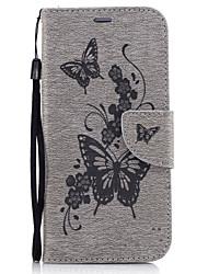 preiswerte -Hülle Für Samsung Galaxy A5(2017) / A3(2017) Geldbeutel / Kreditkartenfächer / mit Halterung Ganzkörper-Gehäuse Schmetterling Hart PU-Leder für A3 (2017) / A5 (2017) / A5(2016)