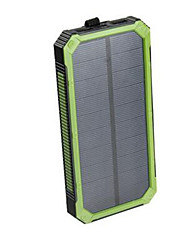 cheap -Portable Solar Power Bank Dual USB Power Bank 16000mAh Waterproof Power Bank Bateria External Portable Solar Panel with LED Light