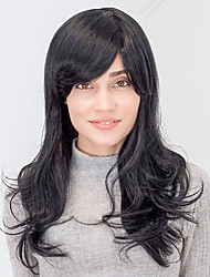 Stylisy Layered Light Long Wave Black Capless Human Hair Wig For Girls And Women 2017