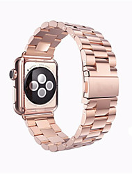 abordables -Bracelet de Montre  pour Apple Watch Series 3 / 2 / 1 Apple Sangle de Poignet papillon Boucle Acier Inoxydable