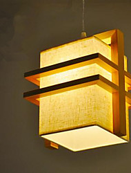 cheap -Pendant Light ,  Modern/Contemporary Wood Feature for LED Wood/Bamboo Bedroom Dining Room Kids Room Hallway