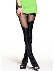 abordables -Mujer Casual Tiro Medio Elástico Delgado Chinos Pantalones, Un Color Algodón Primavera Verano