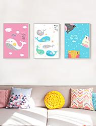 Fantasia Decorazioni da parete in 3D Stampe con cornice Tele con cornice Set con cornice Decorazioni da parete,Legno Materiale Bianco