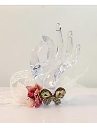 Hochzeitsblumen Mit Hand gebunden Freigeformt Armbandblume Hochzeit Partei / Abend Spitzen Strass 37 cm ca.