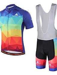 economico -Miloto Maglia con salopette corta da ciclismo Unisex Manica corta Bicicletta Salopette Pantaloncini imbottiti di protezione