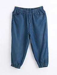 baratos -Mulheres Casual Solto Jeans Calças - Sólido