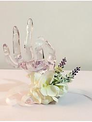 """Fleurs de mariage Noué à la main Petit bouquet de fleurs au poignet Mariage La Fête / soirée Fleur séchée 6.69""""(Env.17cm)"""