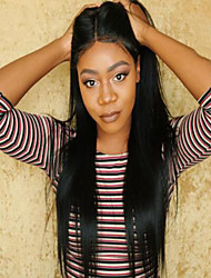 Full Lace Wig Brazilian Virgin Human Hair Yaki Straight Wig For African American Women