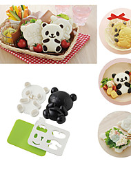 cheap -4 in 1 Baby Panda Sushi Rice Mould Onigiri Shaper Roasted Seaweed Cutter Kitchen Tools