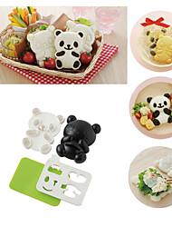 4 em 1 bebê panda sushi molho de arroz onigiri shaper ferramentas de cozinha de cortador de algas roas